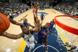 Detroit Pistons v Memphis Grizzlies: Sam Young, Ben Wallace and Jason Maxiell