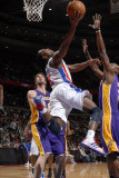 Los Angeles Lakers v Detroit Pistons: Rodney Stuckey, Pau Gasol and Lamar Odom