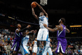 Sacramento Kings v New Orleans Hornets: Emeka Okafor and DeMarcus Cousins