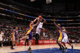 Los Angeles Lakers v Los Angeles Clippers: Baron Davis, Steve Blake and Lamar Odom