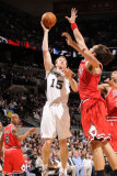 Chicago Bulls v San Antonio Spurs: Matt Bonner and Joakim Noah Photographic Print