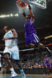 Sacramento Kings v New Orleans Hornets: Jason Thompson and Emeka Okafor