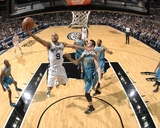 New Orleans Hornets v San Antonio Spurs: Tony Parker and Jason Smith Photographic Print
