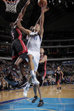 Miami Heat v Dallas Mavericks: Dirk Nowitzki and Dwyane Wade Photographic Print