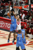 Oklahoma City Thunder v Houston Rockets: Serge Ibaka and Luis Scola