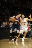 Atlanta Hawks v Toronto Raptors: Mike Bibby and Jose Calderon