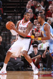 Denver Nuggets v Portland Trail Blazers: Shelden Williams and Armon Johnson