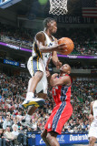 New Jersey Nets v Utah Jazz: Ronnie Price and Travis Outlaw