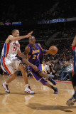Los Angeles Lakers v Detroit Pistons: Kobe Bryant and Tayshaun Prince