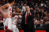 Orlando Magic v Chicago Bulls: Derrick Rose, Tom Thibodeau and Joakim Noah
