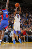 Detroit Pistons v Golden State Warriors: Ben Wallace and Dorell Wright