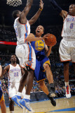 Golden State Warriors v Oklahoma City Thunder: Stephen Curry, Serge Ibaka and Russell Westbrook Photographic Print