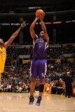 Sacramento Kings v Los Angeles Lakers: Carl Landry and Lamar Odom
