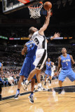 Orlando Magic v San Antonio Spurs: Tony Parker and Rashard Lewis Photographic Print