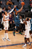 Minnesota Timberwolves v Charlotte Bobcats: Shaun Livingston and Corey Brewer