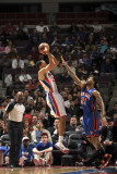 New York Knicks v Detroit Pistons: Tayshaun Prince and Wilson Chandler