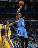 Oklahoma City Thunder v New Orleans Hornets: Kevin Durant and Trevor Ariza Photographic Print