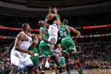Boston Celtics v Philadelphia 76ers: Andre Iguodala, Paul Pierce and Kevin Garnett
