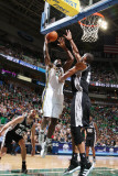 San Antonio Spurs v Utah Jazz: Al Jefferson and Tim Duncan