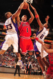 Chicago Bulls v Phoenix Suns: Grant Hill, Channing Frye and Derrick Rose