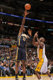 Indiana Pacers v Los Angeles Lakers: Roy Hibbert and Lamar Odom