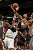 Milwaukee Bucks v Cleveland Cavaliers: Anderson Varejao and Drew Gooden