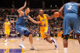 Washington Wizards v Los Angeles Lakers: Lamar Odom and Yi Jianlian