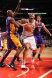 Los Angeles Lakers v Chicago Bulls: Carlos Boozer, Lamar Odom and Pau Gasol