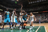 New Orleans Hornets v Utah Jazz: Deron Williams and David West