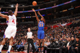 New York Knicks v Los Angeles Clippers: Toney Douglass and Randy Foye