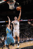 New Orleans Hornets v San Antonio Spurs: Tiago Splitter and Jason Smith