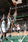 Milwaukee Bucks v Utah Jazz: Brandon Jennings and Earl Watson
