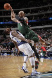 Milwaukee Bucks v Dallas Mavericks: Drew Gooden and DeShawn Stevenson