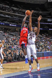 Philadelphia 76ers v New Jersey Nets: Jrue Holiday and Derrick Favors