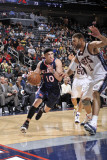 Atlanta Hawks v New Jersey Nets: Mike Bibby and Brook Lopez