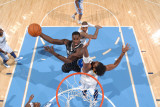 Orlando Magic v Denver Nuggets: Brandon Bass and Nene