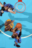 Oklahoma City Thunder v New Orleans Hornets: Russell Westbrook and Emeka Okafor