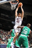 Boston Celtics v New Jersey Nets: Kris Humphries and Shaquille O'Neal