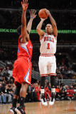 Los Angeles Clippers v Chicago Bulls: Derrick Rose and Baron Davis