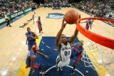 Detroit Pistons v Memphis Grizzlies: Darrell Arthur, Charlie Villanueva, Tracy McGrady and Greg Mon