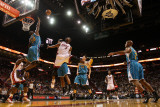 New Orleans Hornets v Miami Heat: Dwyane Wade and Emeka Okafor