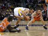 Phoenix Suns v Golden State Warriors: Stephen Curry, Jason Richardson and Steve Nash Photographic Print