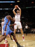 Oklahoma City Thunder v Toronto Raptors: AndreaBargnani and JamesHarden