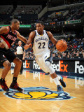 Portland Trail Blazers v Memphis Grizzlies: Rudy Gay and Nicolas Batum