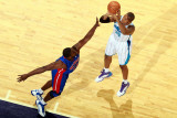 Detroit Pistons v New Orleans Hornets: David West and Jason Maxiell
