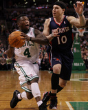 Atlanta Hawks v Boston Celtics: Nate Robinson and Mike Bibby