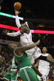 Boston Celtics v Charlotte Bobcats: Glen Davis and Gerald Wallace