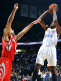 Houston Rockets v Oklahoma City Thunder: Kevin Durant and Shane Battier
