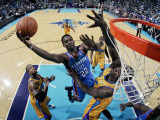 Oklahoma City Thunder v New Orleans Hornets: Jeff Green and Emeka Okafor