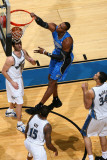 Orlando Magic v Washington Wizards: Dwight Howard, Kirk Hinrich and Alonzo Gee
